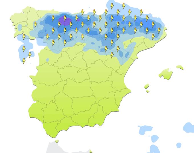 mapa de precipitaciones 17 horas