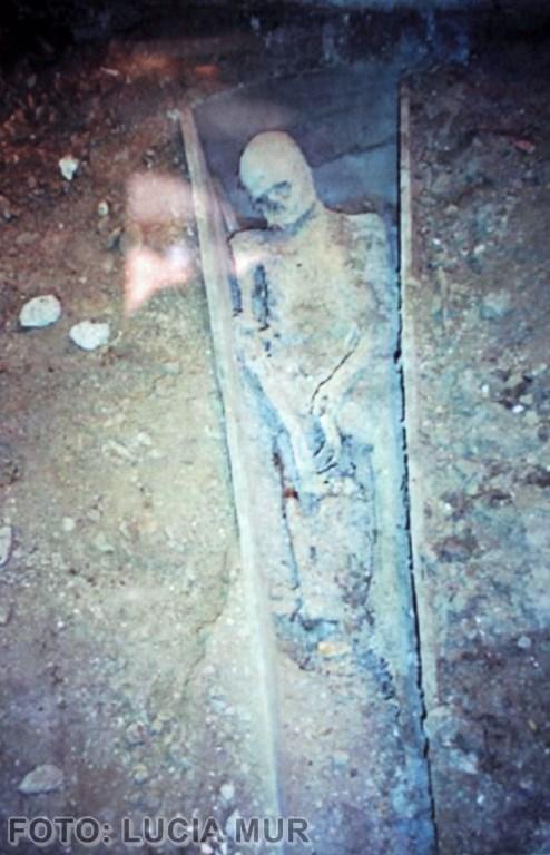 Estado de la momia en el momento de su excavación. (Copiar)