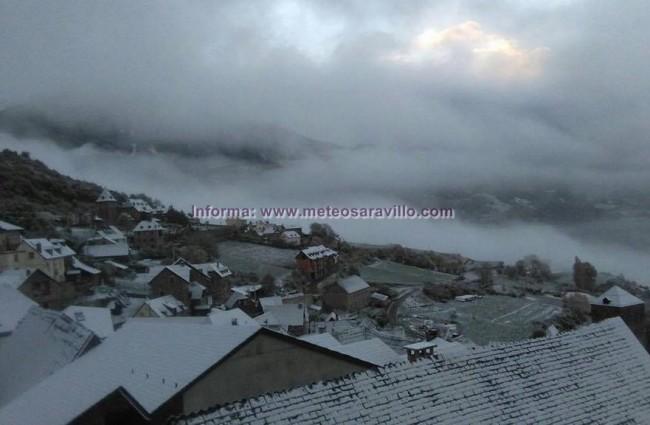 Nieve en el Valle de Chistau. 9-11-2016